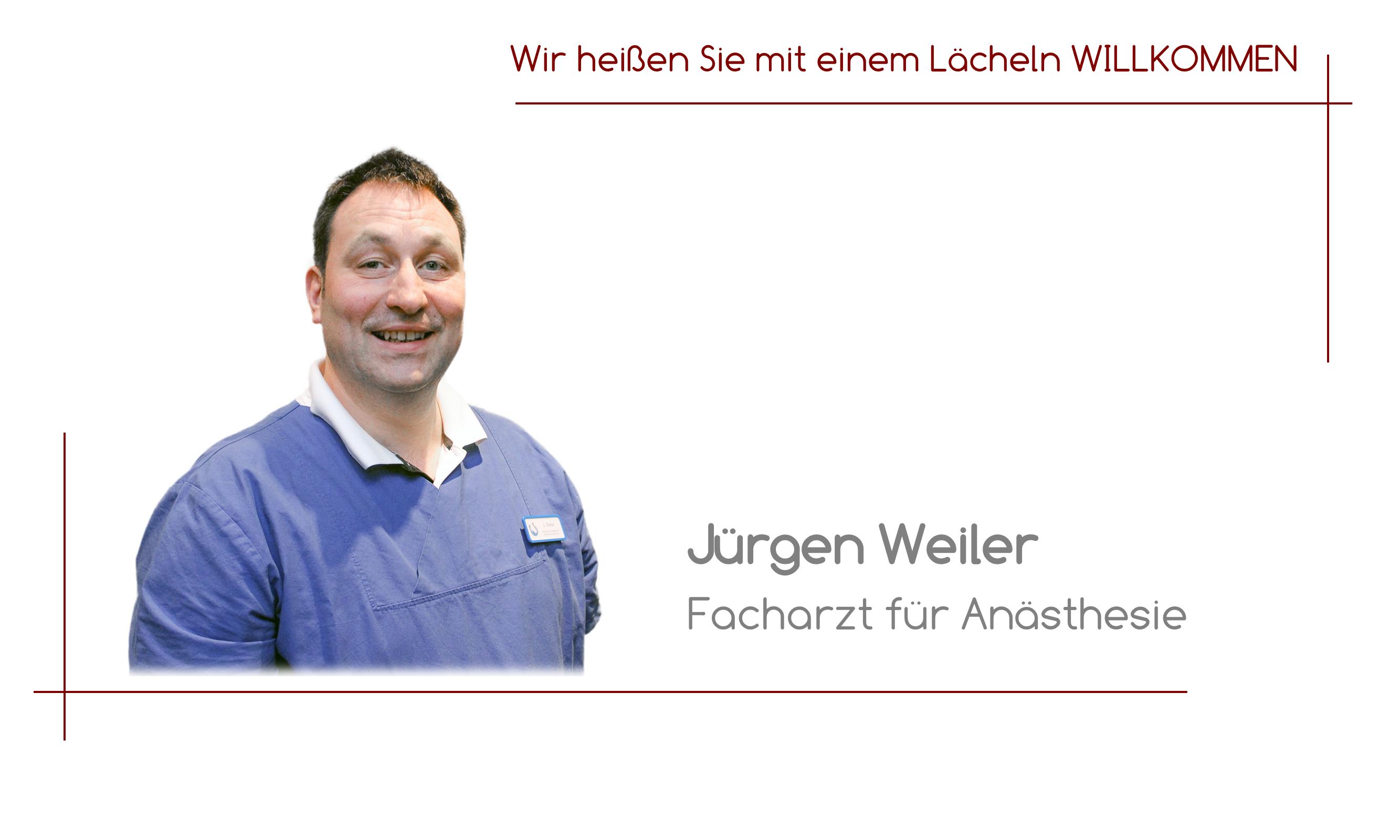 Jürgen Weiler - Facharzt für Anästhesie