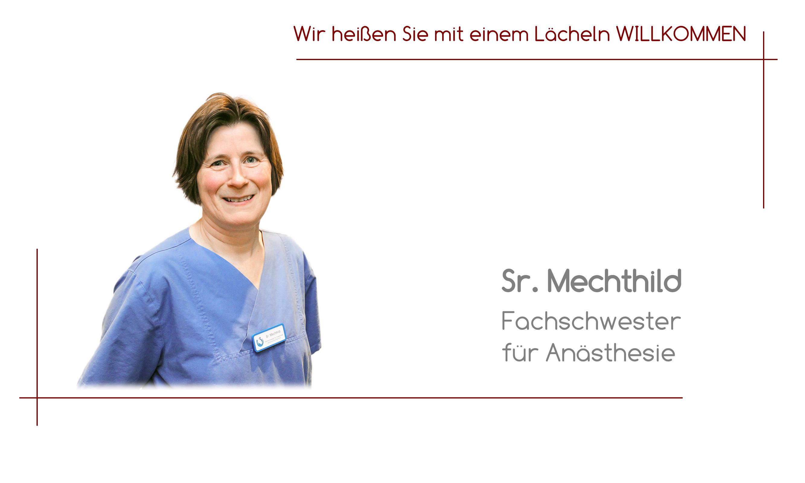 Sr. Mechthild - Fachschwester für Anästhesie