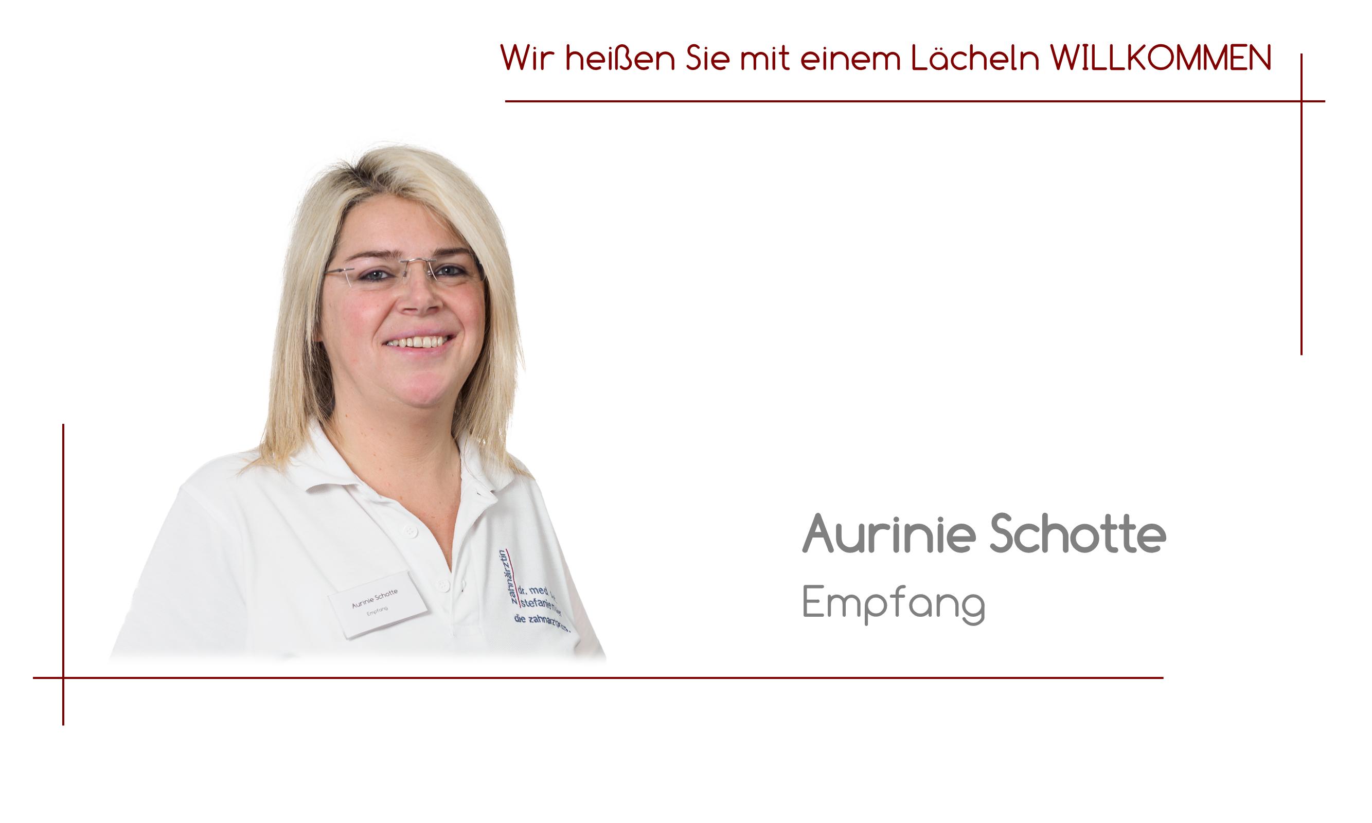 Aurinie Schotte - Empfang